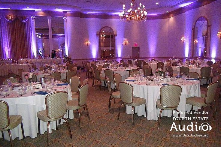 Fourth Estate Audio can provide dramatic animated uplighting for your special event at http://www.discjockey.org/lighting-uplighting-options/. Or Meridian Banquets can provide its own one-color uplights. #MeridianBanquets #ChicagoUplighting