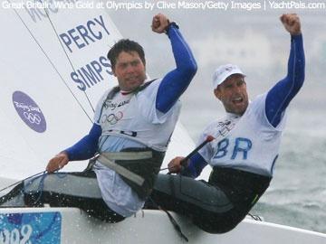 Team GB - Star Class - Sailing ~ Beijing 2008 - Iain Percy  & Andrew Simpson