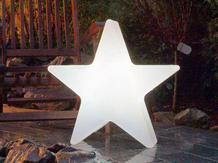 8seasons design beleuchteter Stern, Kunststoff weiß - Shining Star