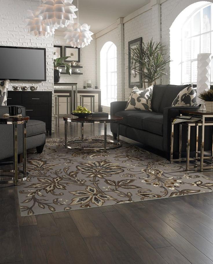 122 best Area rug inspiration images on Pinterest Architecture - grey living room rug