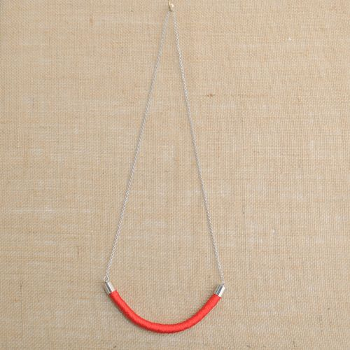 Holi Red Cord Necklace