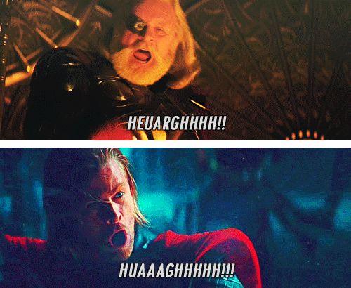 funny avengers gif loki yell