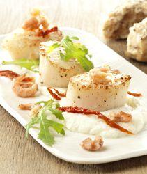 sint-jacobsnoten (coquilles) met bloemkoolmousse -  Colruyt Culinair