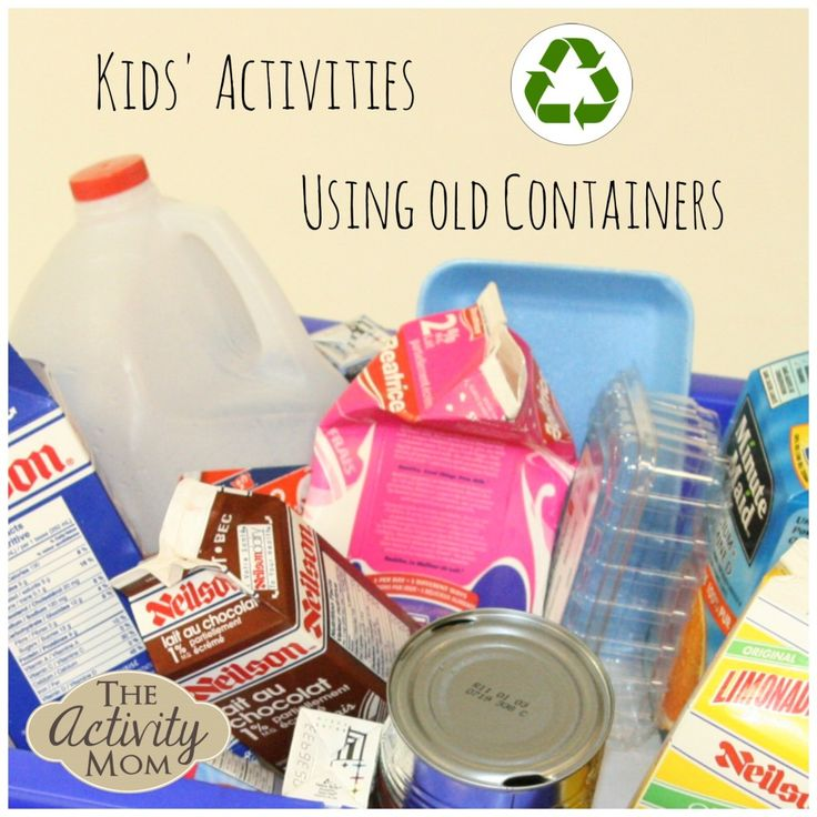Kids' Activities using Old Containers from The Activity Mom
