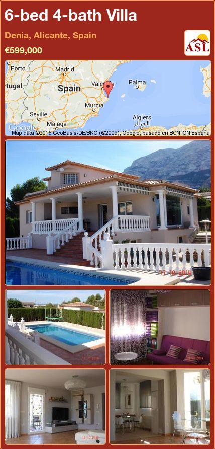 6-bed 4-bath Villa in Denia, Alicante, Spain ►€599,000 #PropertyForSaleInSpain