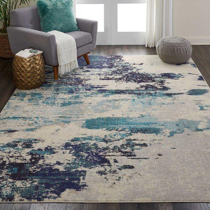Velva Ivory Blue Area Rug Teal Living Rooms Rugs In Living Room Navy Living Rooms