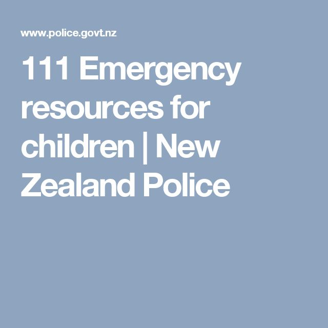 111 Emergency resources for children | New Zealand Police