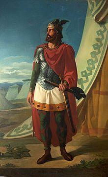 Wallia, roi des wisigoths par Alejo Vera.