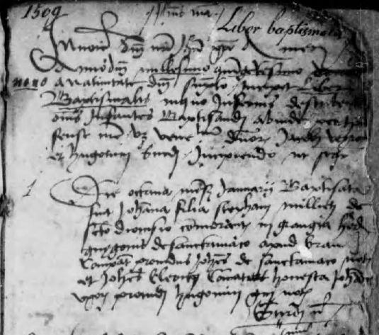 Bourg-en-Bresse, BMS 1509-1511. © Archives Départementales de l'Ain (01).