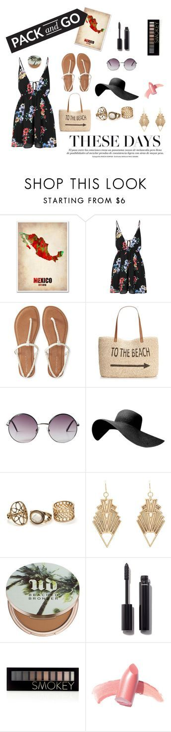 """Traveling to Mexico City"" by janisan0310 ❤ liked on Polyvore featuring Trademark Fine Art, Glamorous, Aéropostale, Style & Co., Monki, Charlotte Russe, Urban Decay, Chanel, Forever 21 and Elizabeth Arden"
