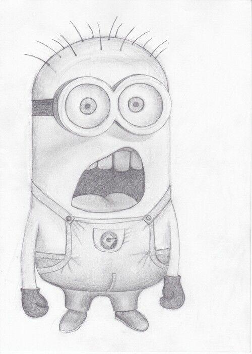 cartoon drawings easy drawing disney minion