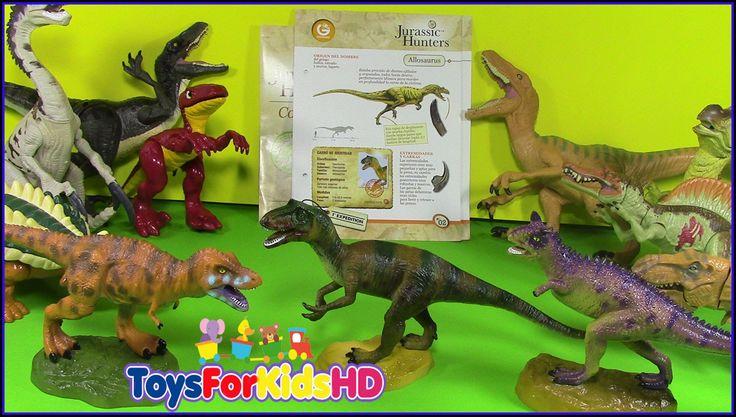 Los Dinosaurios para niños Jurassic Hunters Geoworld Allosaurus - Vídeos...