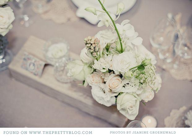 cream light grey romantic wedding table decor_007