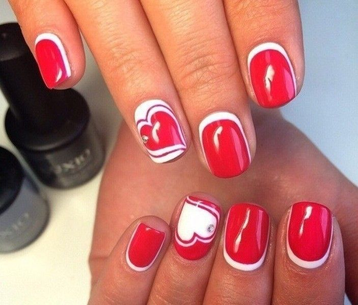 50+ Lovely Valentine\u0027s Day Nail Art Ideas 2020