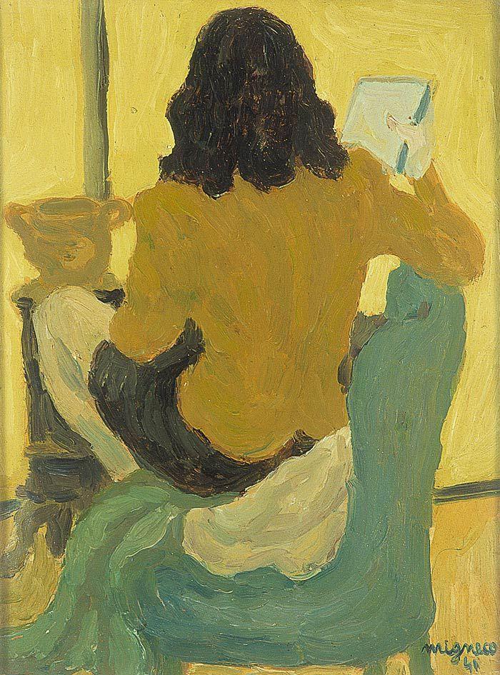 Giuseppe Migneco. 1908-1997. Ragazza di schiena. Fille de dos. Girl back. 1941. Florence Musée du Novecento pg (700×945)