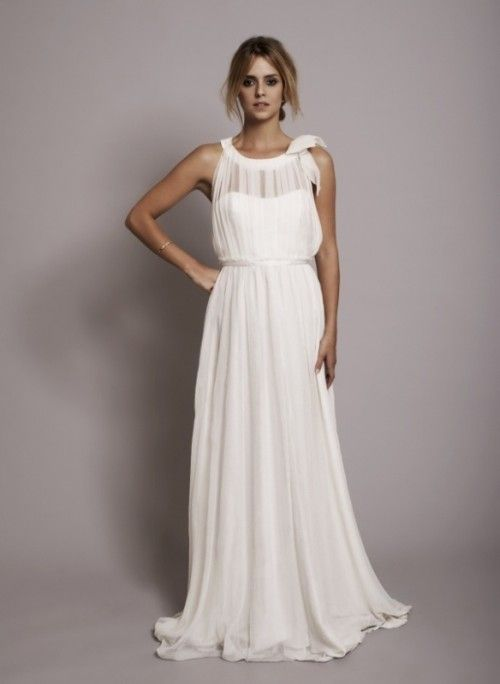 30 Gorgeous Grecian Drapery Wedding Dresses | Weddingomania