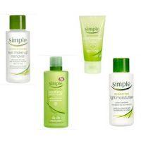 Simple skincare range