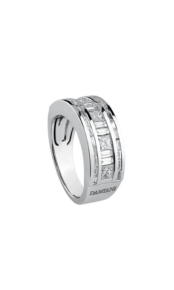 Belle Époque white gold and diamonds ring