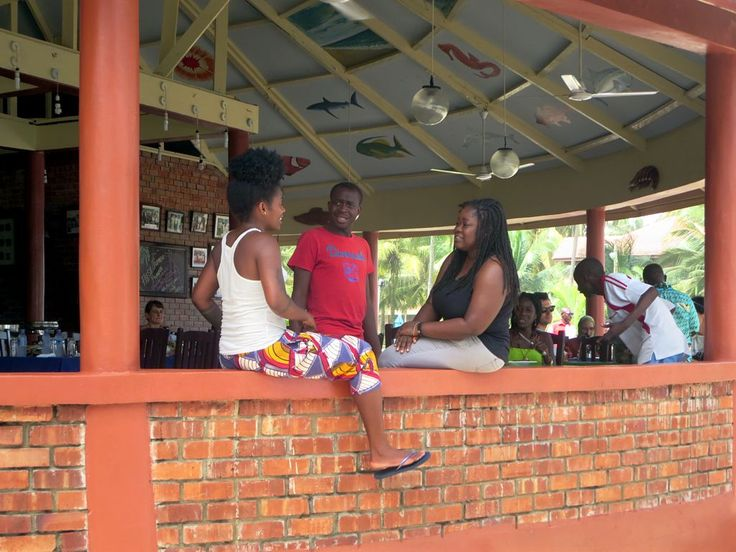 A local get together at Coconut Grove Beach Resort near Elmina, Ghana.