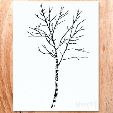 Birch Tree Small Stencil