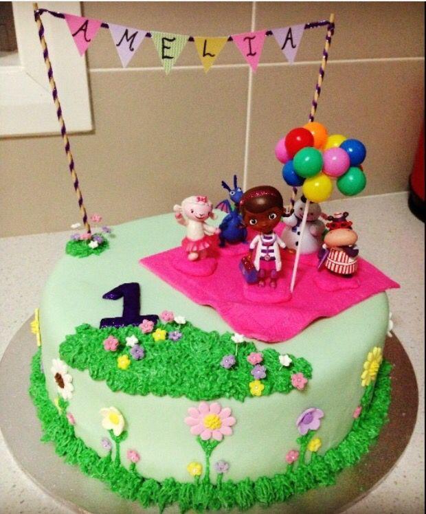 1st birthday Doc McStuffins cake.