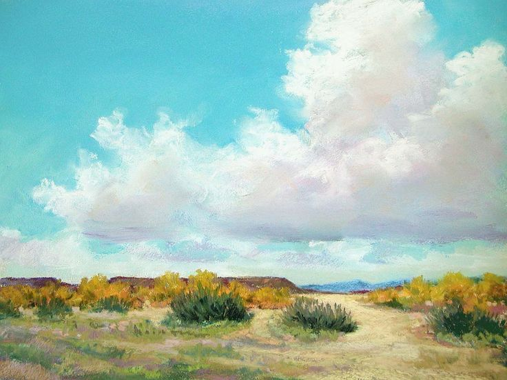 Cloud Perspective Landscape Painting In Pastels Chapter