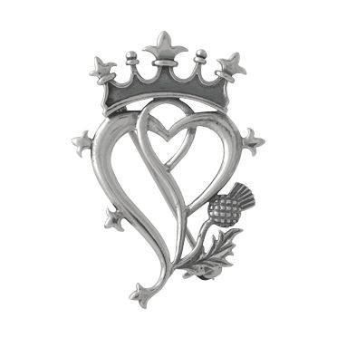 Scottish Thistle Symbol | Luckenbooth Thistle Scottish Pin at TreasuredFinds.com