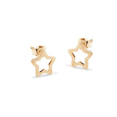 The new openwork star earrings by Lilou, only £32! Choose between the gold-plated and silver pair #lilou #earrings #star #silver #goldplated #pair