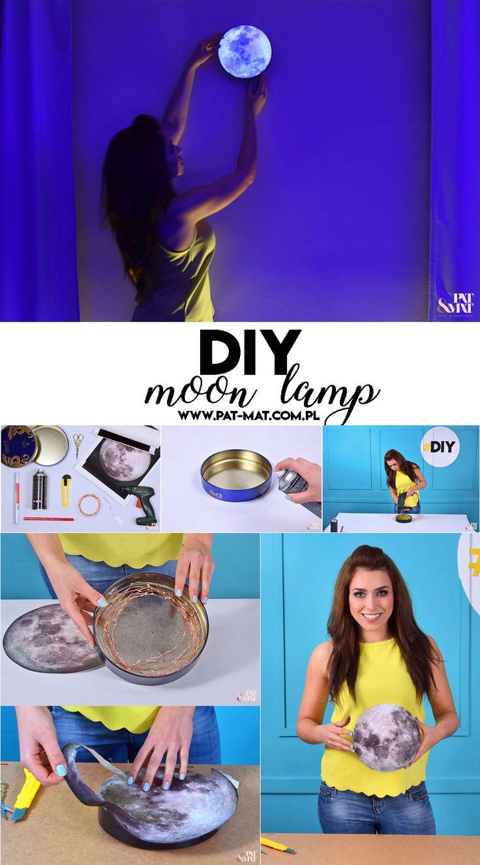 DIY Moon Lamp  #moon #moonlamp #lamp #diy #zróbtosam #lampa #księżyc #lampaksiężyc