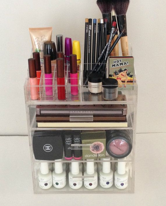 Best Makeup Storage Cosmetic Organizer Images On Pinterest - Acrylic cube makeup organizer with drawers