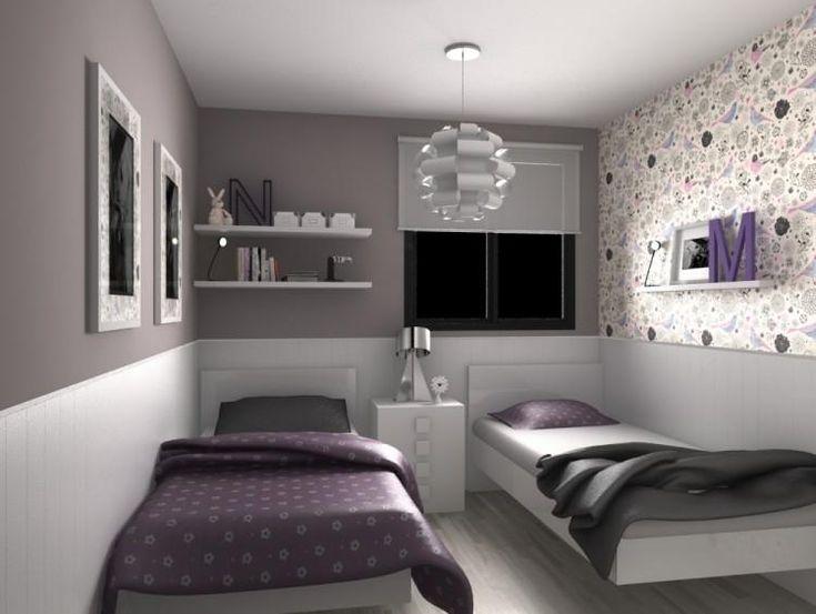 Habitacion compartida nio y nia affordable dormitorio for Habitacion juvenil nino