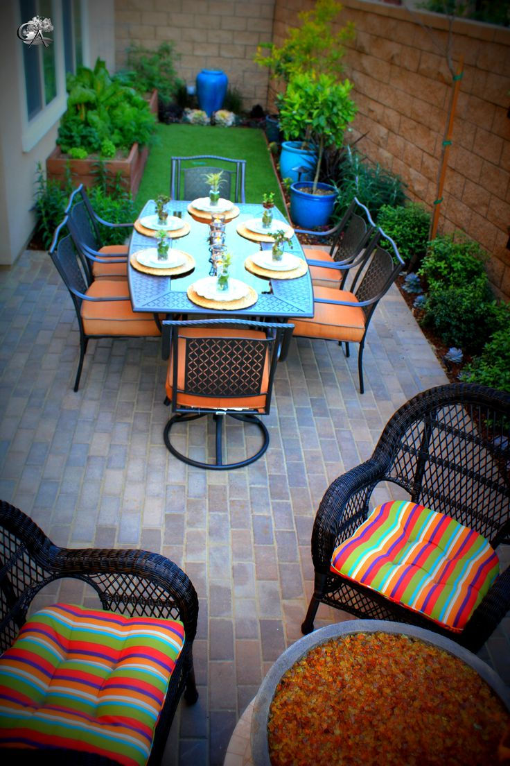 Outdoor Dining, Small Outdoor Space, Drought Tolerant, Pots In Landscape,  Pot Fountain
