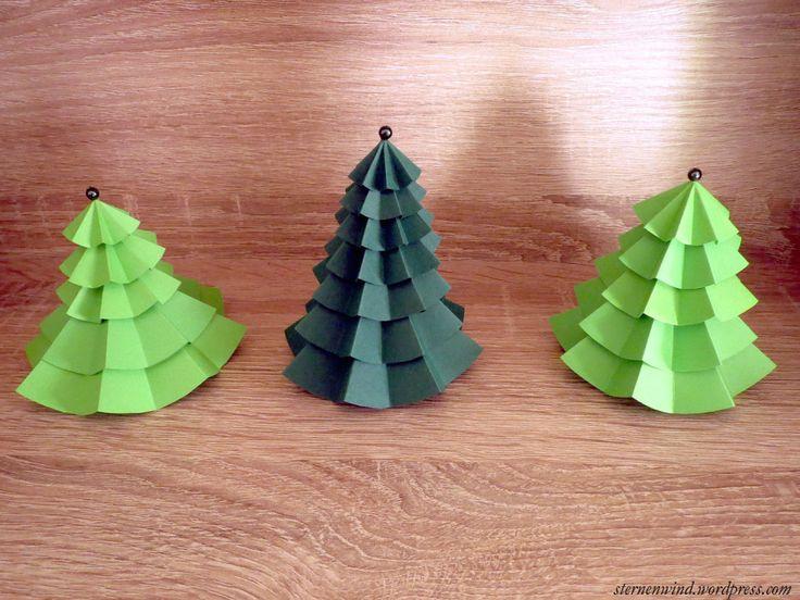 DIY: Tannenbäumchen Aus Papier Falten