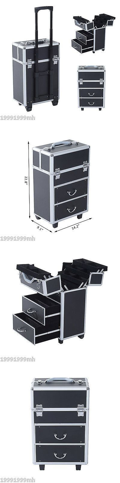 Rolling Makeup Cases: Soozier Rolling Makeup Case Train Cosmetic Jewelry Organizer W Drawers Black -> BUY IT NOW ONLY: $119.99 on eBay!