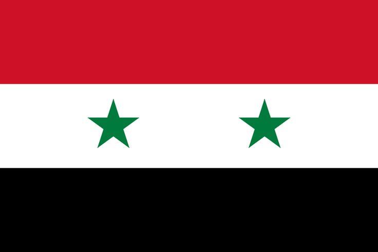 Flag of Syria - Galeria de bandeiras nacionais – Wikipédia, a enciclopédia livre