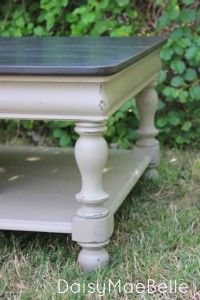 Chalk Painted Coffee Table @ DaisyMaeBelle