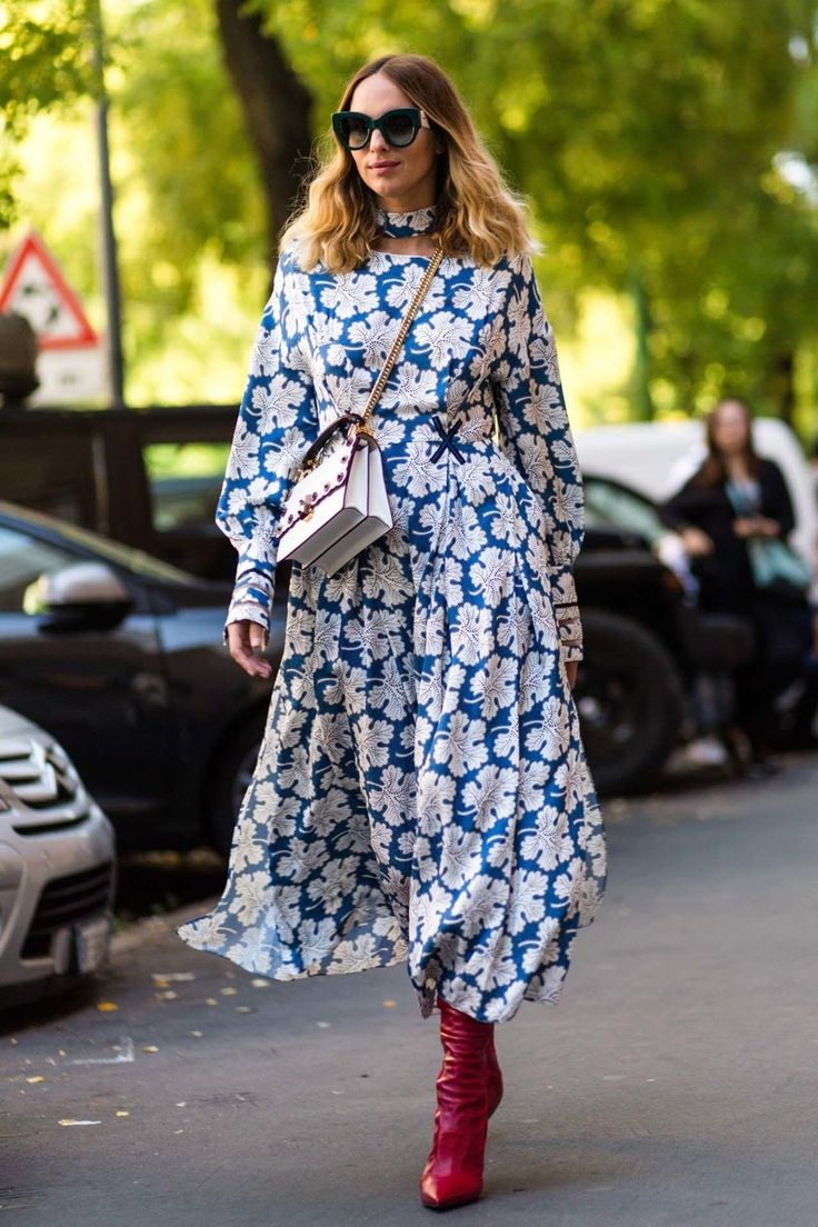 """Candela Novembre Of her street style, the Milan-based style star told Vogue.com: """"I usually have crazy combinations with my clothing: I mix and match colors, patterns, but when it comes to shoes and accessories I'm really the same: a black high heel with a pointed toe or a high heel sandal."""""""