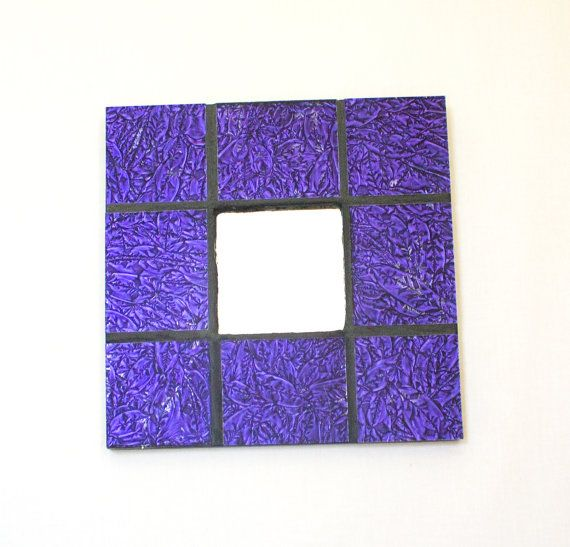 Purple Wall Mirror Stained Glass Mosaic Mirror by Nostalgianmore