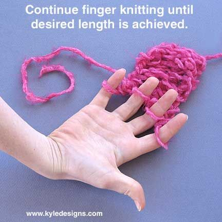 yarn crafts for adults   Finger Knitting Instructions for Kids & Adults « Color Style Kyle