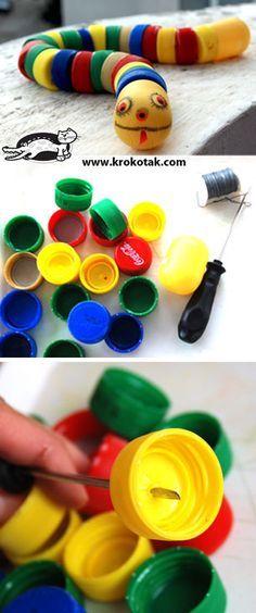 Flaschendeckel als Los für Gruppenbildung