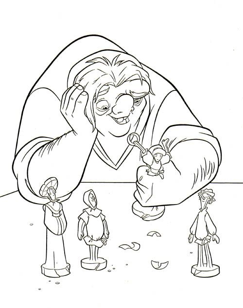 hunchback coloring pages - photo#18