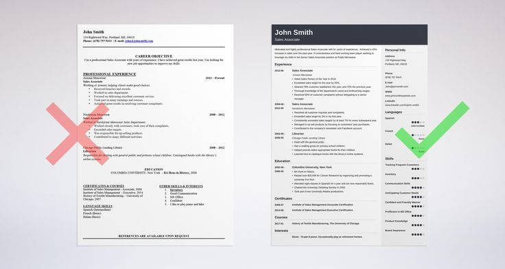 resume summary no zoom