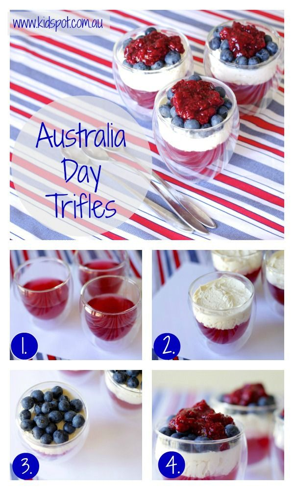 Australia Day Trifles Recipe - Australian