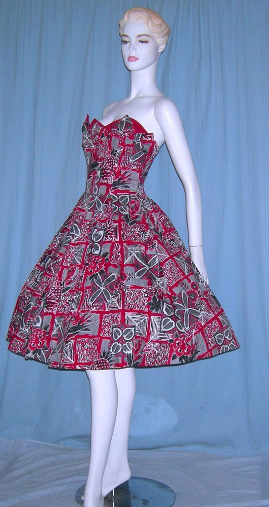 VINTAGE 1950s HAWAIIAN PINUP DRESS SURFRIDERS BOMBSHELL ROCKABILLY PETAL BUST #SurfridersHawaii