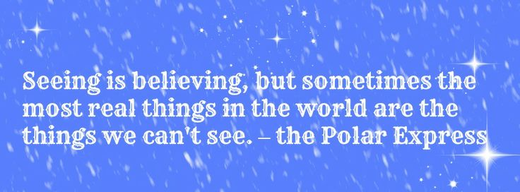 polar express quotes the thing about trains