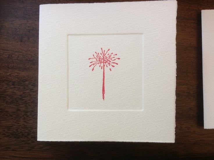 MISU card design   red allium