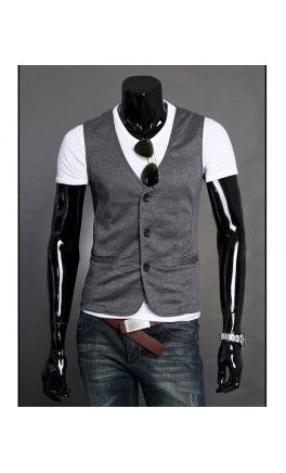Modern Three Button Mens Vest - Apostolic Clothing