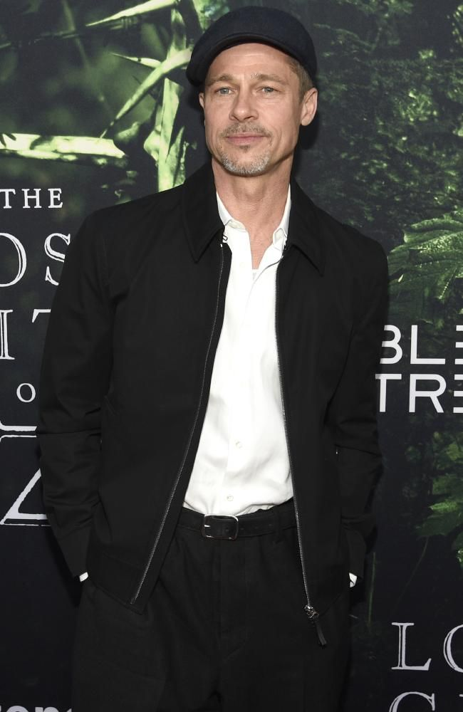 Brad Pitt looked noticeably thinner on the red carpet at the LA premiere of The Lost City of Z in April. Picture: Chris Pizzello/Invision/AP