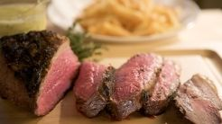 Seared Tri-tip Steak with Bearnaise Sauce and Pommes Frites