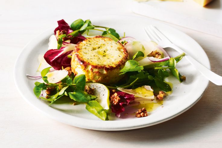 Jill Dupleix transforms creamy fresh ricotta into a beautiful dinner by baking it and serving with a crunchy Italian-style salad.